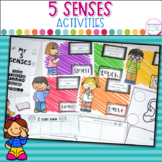 5 Senses Anchor Charts,Flip Book and Printables