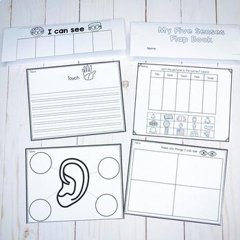 5 Senses Anchor Charts,Flip Book and Printables