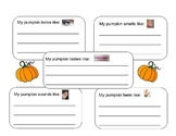 5 Senses Pumpkin graphic organizer