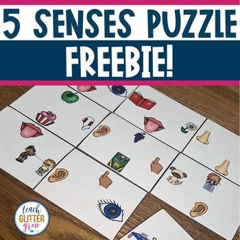 5 Senses Puzzle FREEBIE!