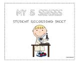 5 Senses Recording Sheet