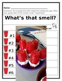 5 Senses - SMELL Inquiry lesson activity.