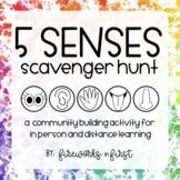 5 Senses Scavenger Hunt | A Community Building Activity