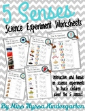5 Senses Science Experiments and Worksheets
