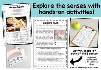 Australian Curriculum - 5 Senses Science Unit - Foundation Year