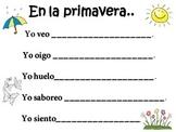 5 Senses Seasons Writing (Spanish) 5 Sentidos y Las Estaciones