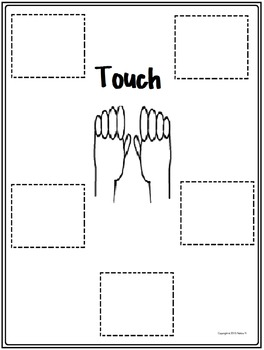 5 Senses Sense of Touch Critical Thinking Graphic Organizer