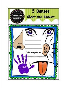 5 Senses Sheet and Booklet (png. files)