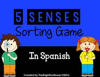 5 Senses Sorting Game in Spanish