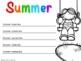 5 Senses Summer Writing