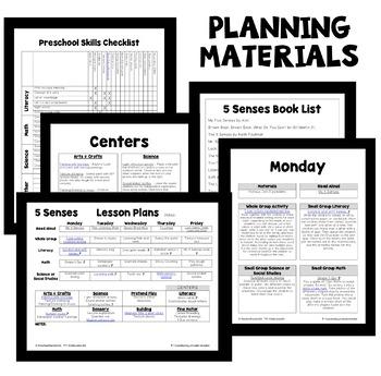 5 Senses Theme Preschool Classroom Lesson Plans
