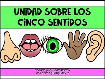 5 Senses Unit in Spanish