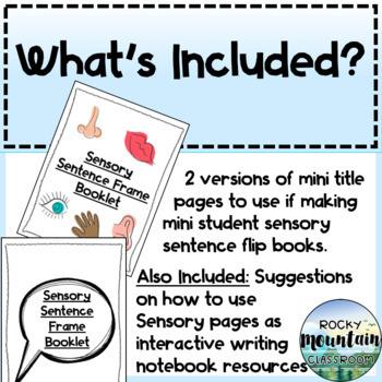 5 Senses Vocabulary & Sensory Sentence Frames