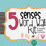 5 Senses Word Wall & Foldable Student Dictionary