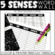 5 Senses Word Wall