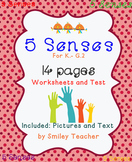 5 Senses Worksheet and Test for K. - G.2