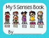 5 Senses Worksheet/Book- Blue