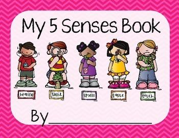 5 Senses Worksheet/Book- Pink