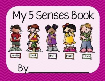 5 Senses Worksheet/Book- Purple