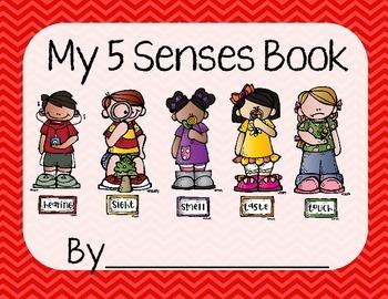 5 Senses Worksheet/Book- Red