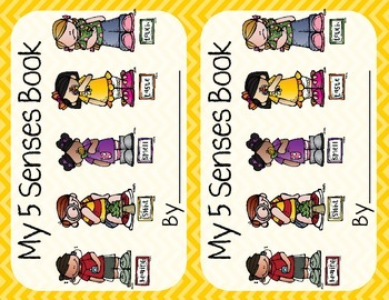 5 Senses Worksheet/Book- Yellow
