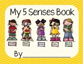 5 Senses Worksheet/Book- Yellow