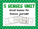 Science Unit - 5 Senses (Great for journals!)