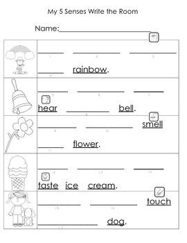 5 Senses Write Around the Room