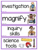 5 Senses and the Nature of Science Vocabulary Cards