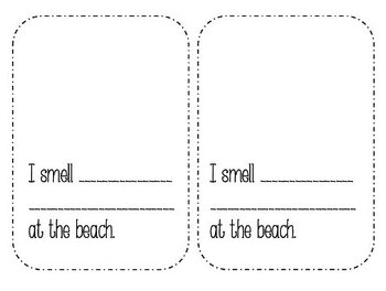5 Senses at the Beach Create-A-Book