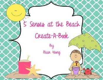 5 Senses at the Beach Create-A-Book