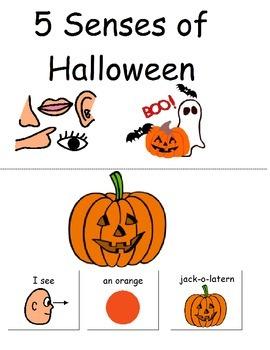 5 Senses of Halloween and homework sheets