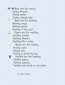 5 Senses poetry