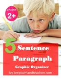 5 Sentence Paragraph Graphic Organizer (how to write a paragraph)