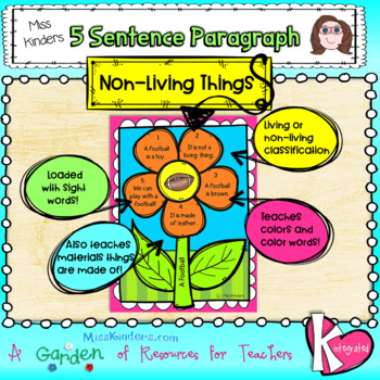 5 Sentence Paragraph Living and Non-Living Things
