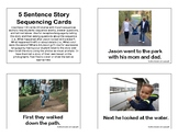 5 Sentence Story Sequencing Cards
