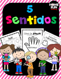 5 Senses Printables and Flip-It Books in Spanish, 5 Sentidos