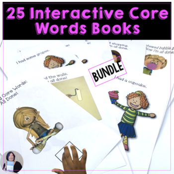 AAC Bundle of Core Words 5 sets of Interactive Books for A