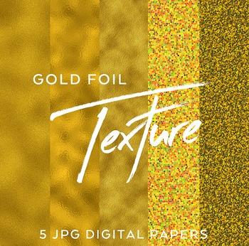 5 Shimmering Gold Foil digital backgrounds