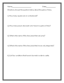 5 Short Questions About Chess