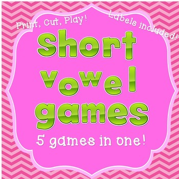 5 Short Vowel Games in 1 Pack!