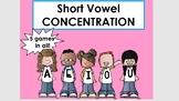 Smartboard Concentration Games w/ decodable short vowel wo