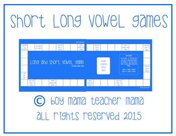 5 Short Vowel Long Vowel Games