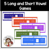 5 Short Vowel Long Vowel Games