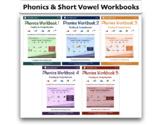 5 Short Vowel eWorkbooks Bundle - by Right Sound Phonics™