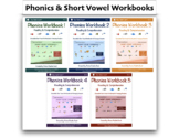 5 Phonics & Short Vowel eWorkbooks Bundle - by I See, I Sp