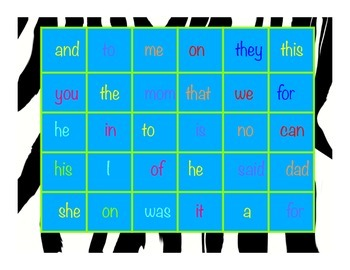 5 Sight Word Games, Literacy Centres, K-2