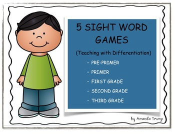 Sight Words Games - Differentiation