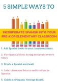 5 Simple Ways To Easily Incorporate Spanish In Your Classroom
