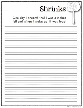 5 Simple Writing Activities Inspired by Picture Books SET 1